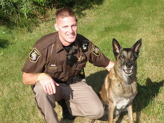 Deputy Mike Sekuris and Conan the German Shepherd